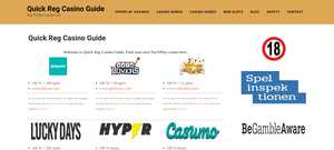 Quick Reg Casino Guide casino affiliation